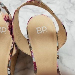 bp Shoes - BP. Floral Cork Arya Wedge Heels